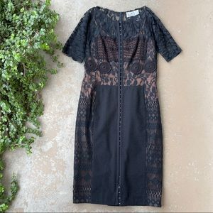 Beguile Byron Lars Carissima Black Sheath Dress
